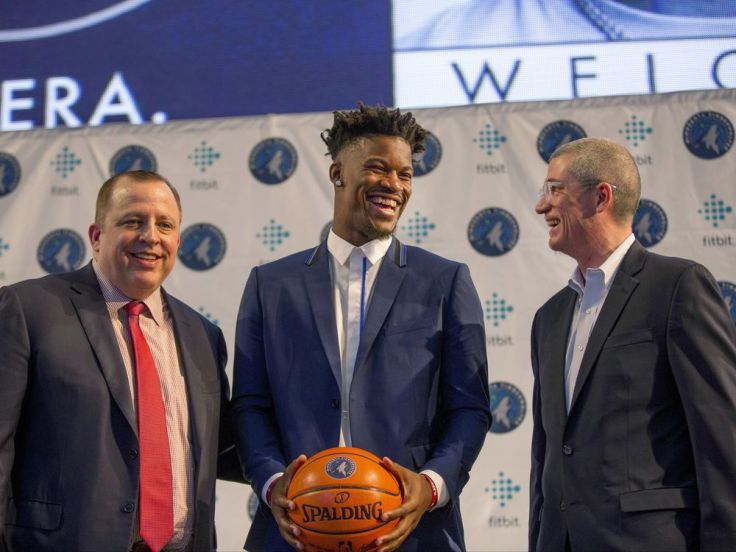Jimmy Butler, Tom Thibodeau, Scott Layden