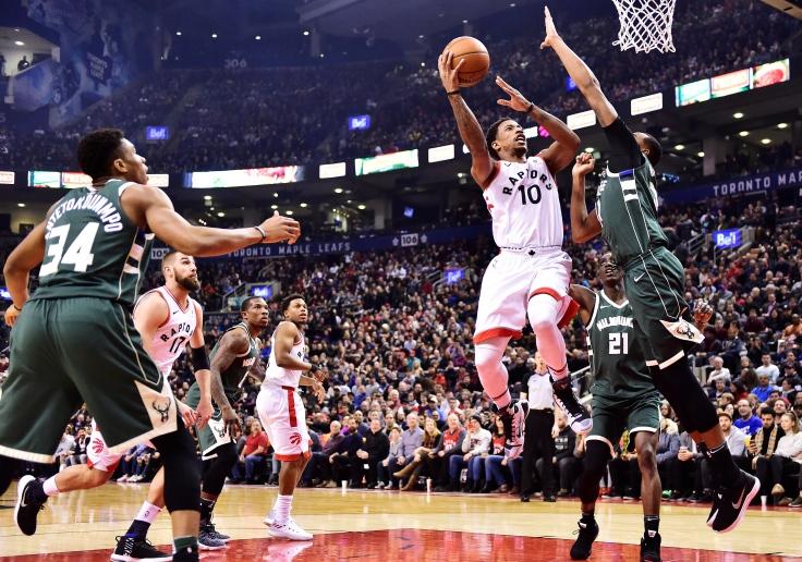 Bucks Raptors Basketball